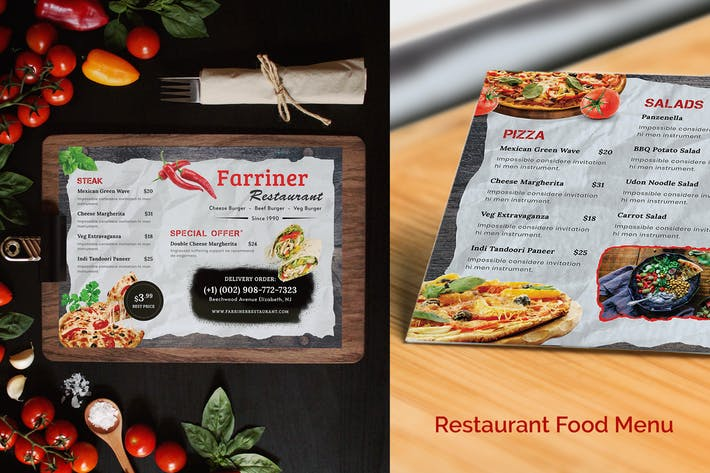 Cover Image For Restaurant Food Menu-02 (Landscape)