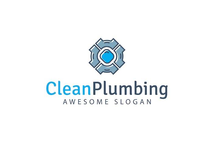 Thumbnail for Clean Plumbing Logo Template