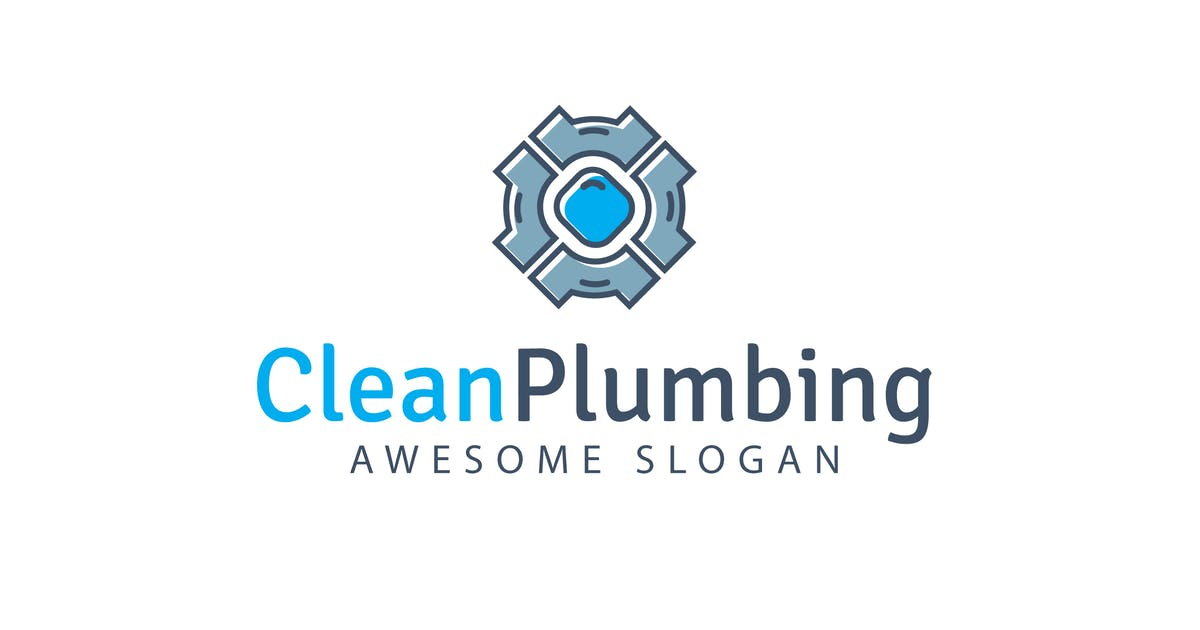 Download Clean Plumbing Logo Template by hoanglam1607
