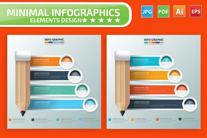 Thumbnail for Pencil Infographics Design