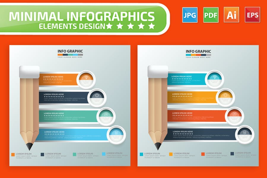 Pencil Infographics Design