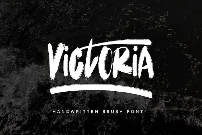 Victoria - Fuente Pincel Escrito a Mano