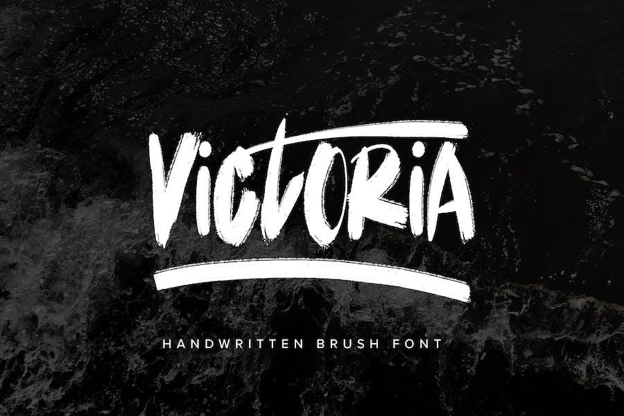 Victoria - Police de pinceau manuscrite