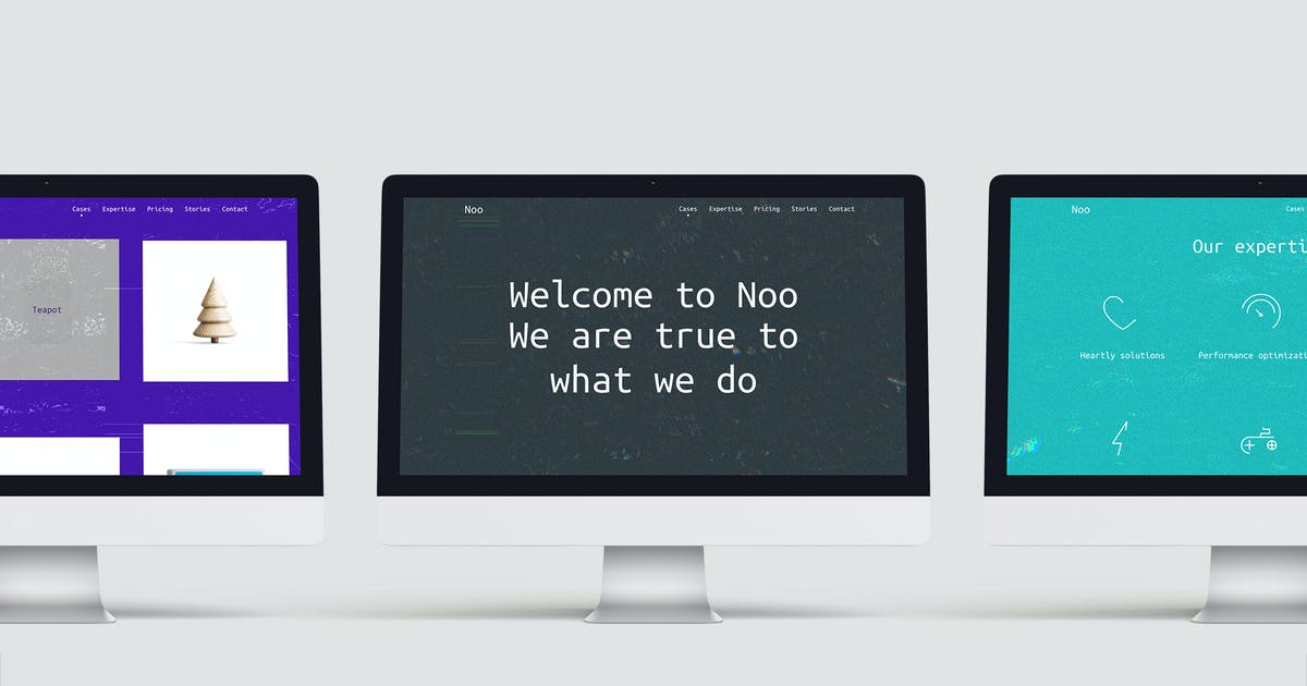 Download Noo – Glitchy Experimental One-Page Template by pimmey
