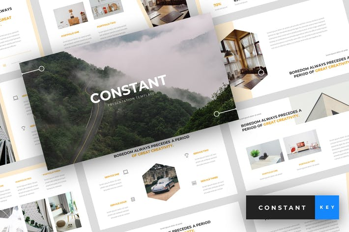 Cover Image For Constant - Creative Keynote Template
