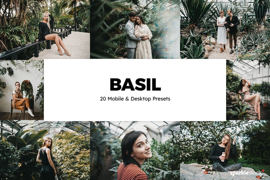 20 Basil Lightroom Presets & LUTs