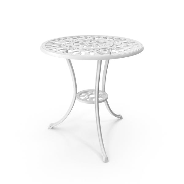 White Cast Iron Dining Table By