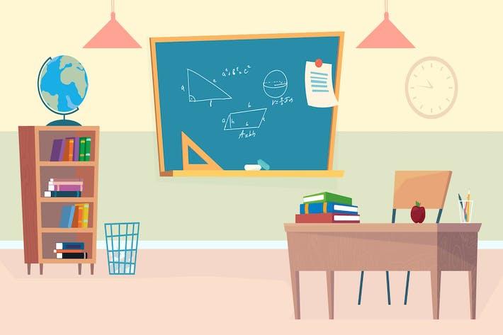 Thumbnail for Outside School - Illustration Background