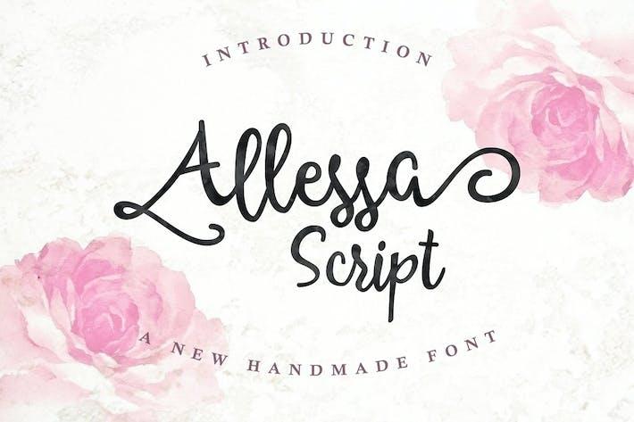 Thumbnail for Allessa Script