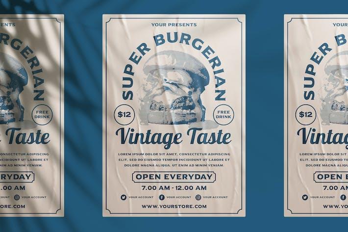 Thumbnail for Vintage Burger Flyer