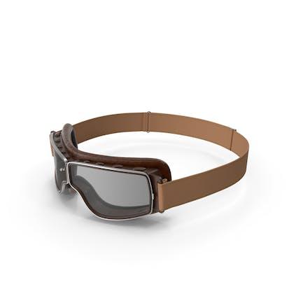 Braune Pilotenbrille