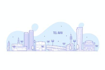 Tel Aviv skyline, Israel