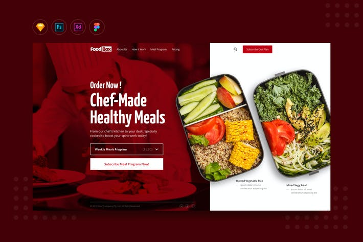 Thumbnail for DailyUI.V14 Online Daily Catering Order Website