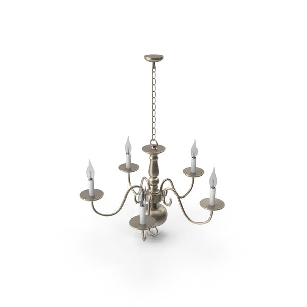 Sea Gull Traditional 5 Light Brushed Nickel Chandelier
