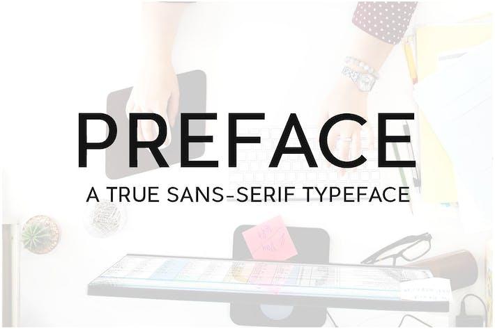 Thumbnail for PREFACE Sans-Serif Typeface + WebFonts