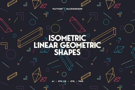 Lineare isometrische geometrische Formen Hintergrund