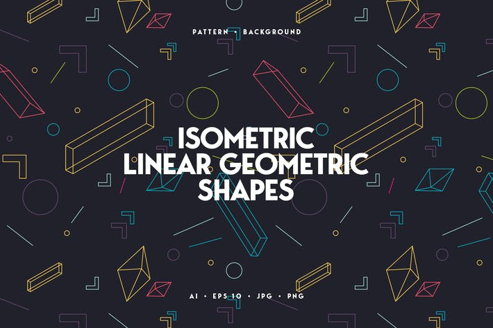 Thumbnail for Linear Isometric Geometric Shapes Background