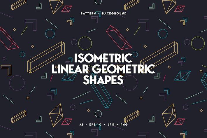 Thumbnail for Arrière-plan de formes géométriques isométriques linéaires