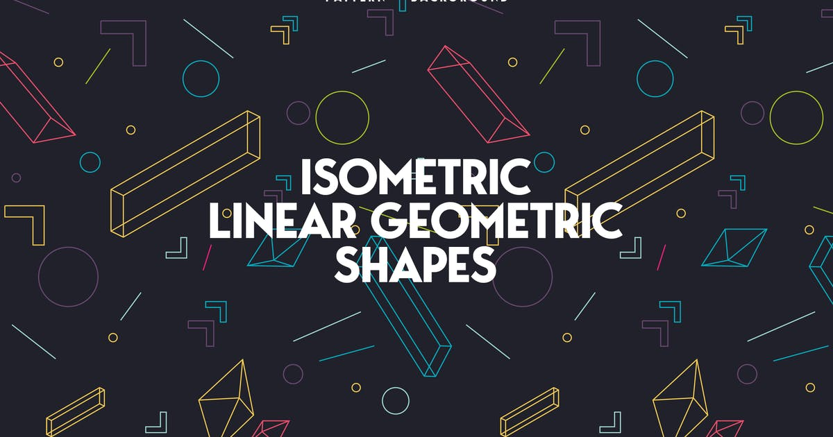 Download Linear Isometric Geometric Shapes Background by themefire