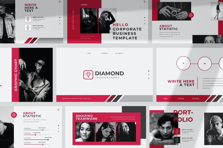 Thumbnail for Diamond Keynote Template