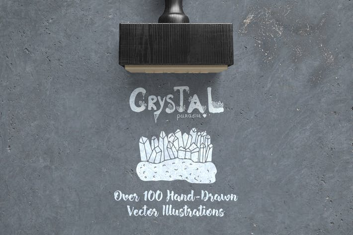 Cover Image For Crystal Paradise Vector Set