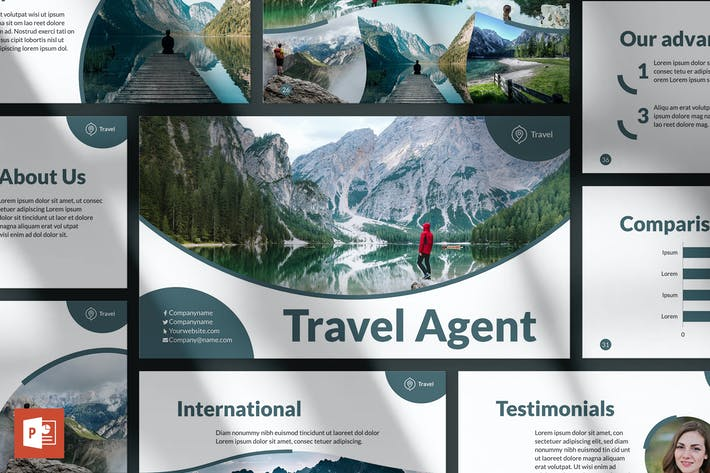 Thumbnail for Travel Agency PowerPoint Presentation Template