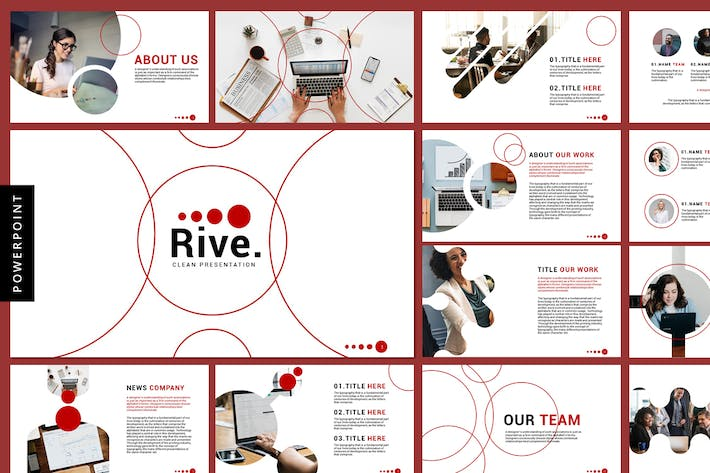 Thumbnail for Rive - Business Powerpoint Templates