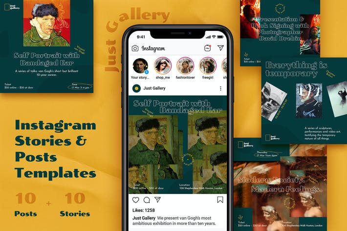 Thumbnail for Art Event – Instagram Posts&Stories