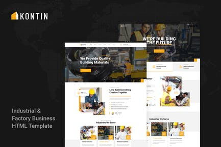 Kontin - Industrial & Factory Business HTML