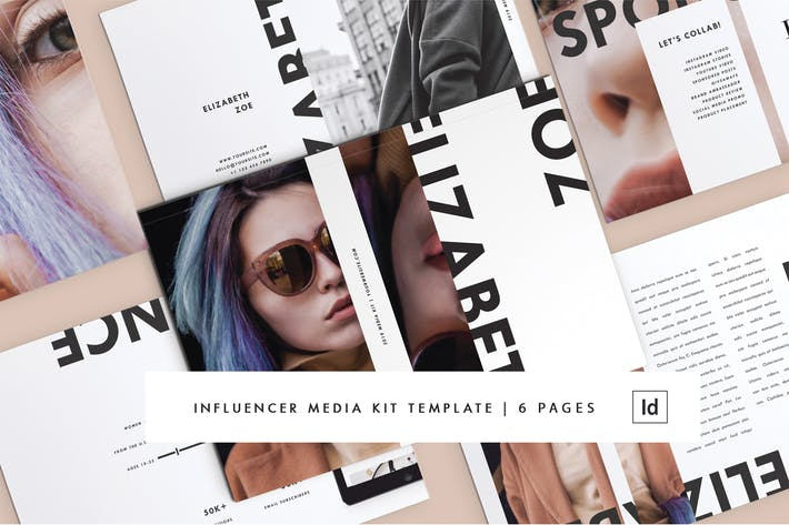 Thumbnail for Influencer Media Kit | 6 Pages | Adobe InDesign