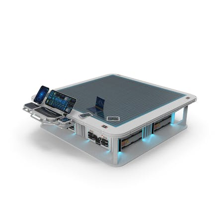Sci-Fi Hologram Table with Control Panel