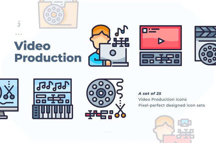 Thumbnail for 25 Video Production Icon