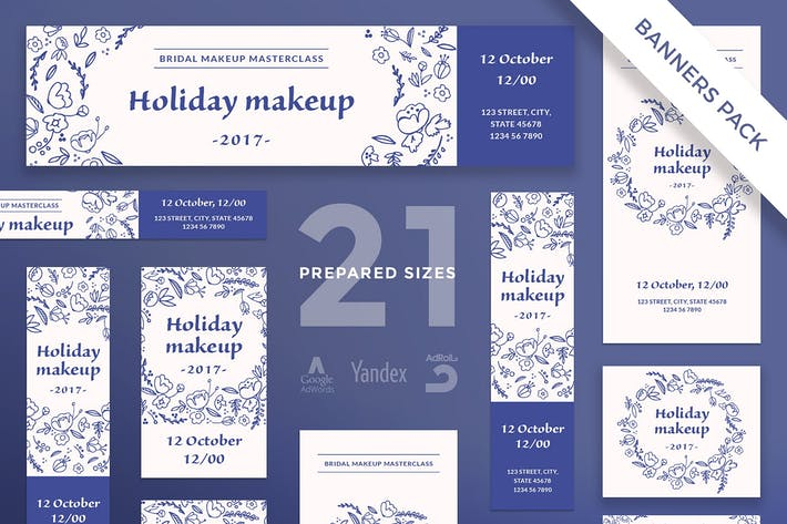 Cover Image For Bridal Makeup Banner Pack Template