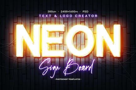 Editable Neon Signboard