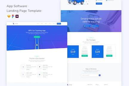 Location App Landing Page Template