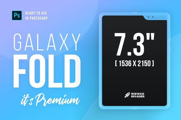 Thumbnail for Samsung Galaxy FOLD Premium PSD Mockup