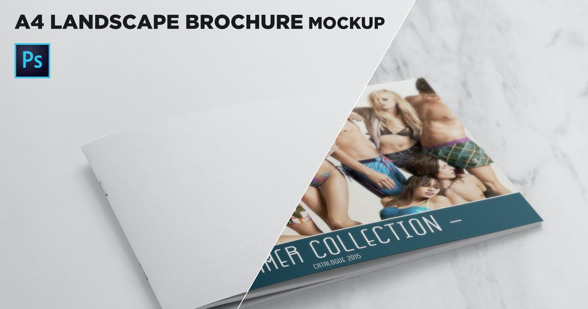 Download Landscape Brochure Cover Mockup by andre28