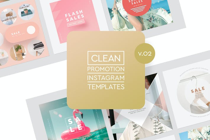 Thumbnail for Instagram Promotion Clean Templates v.02