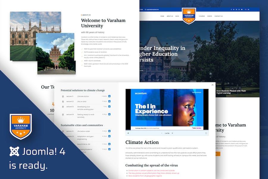 Varaham - Education University Joomla 4 Template