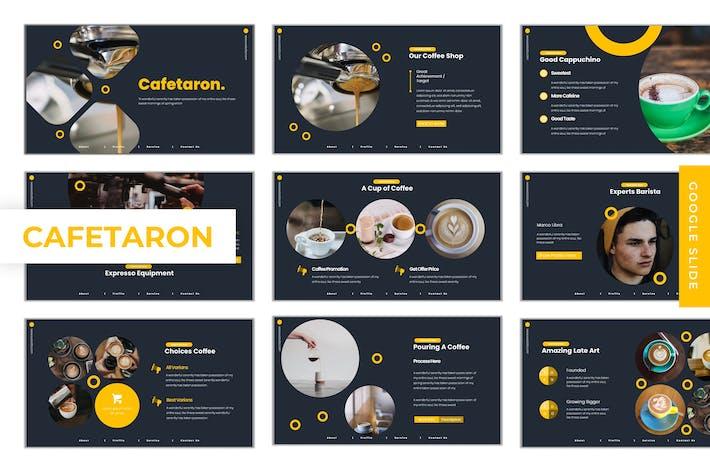 Thumbnail for Cafetaron - Google Slides Template