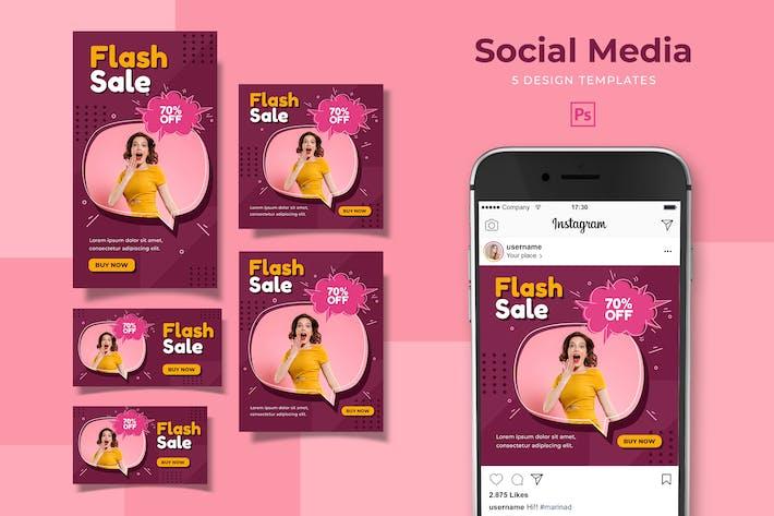Flash Sale Social Media