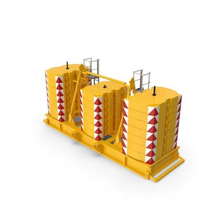 Crane Super - Lift Counterweight Yellow