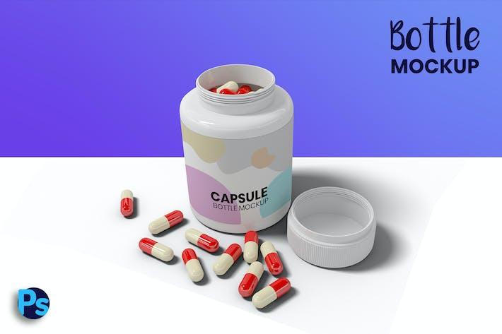 Thumbnail for Capsule Bottle Mockup
