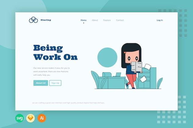 Being Work - Website Header - Illustration