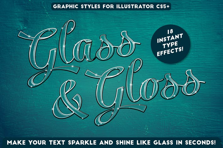 Thumbnail for Glass & Gloss Text Effects