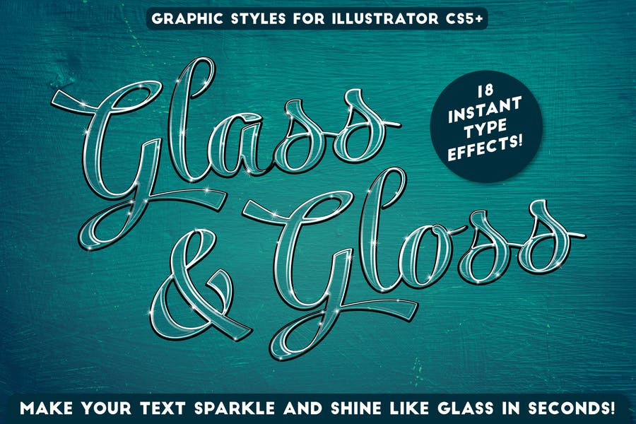 Glass & Gloss Text Effects