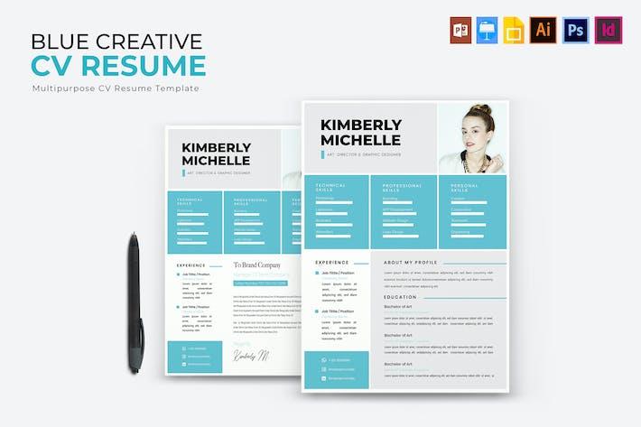 Thumbnail for Blue Creative | CV & Resume