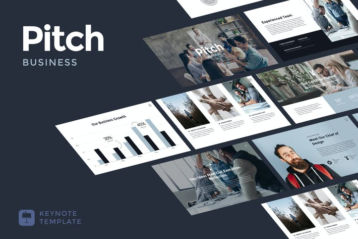 Thumbnail for Business Pitch - Keynote Template