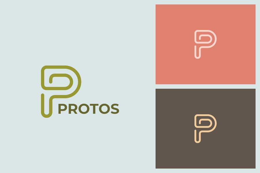 Protos P Letter Logo