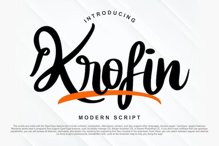 Thumbnail for Krofin Modern Script